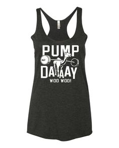 Pump Day Camel Lifting Tri-Blend Racerback Tank Top - yoga top, racerback tank, funny workout tank, gym tank, fitness tank, boho clothing