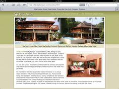 Villa Vadee Website Content and Imagery Koh Phangan, Flourish, Ocean, Social Media, Content, Website, Outdoor Decor, Home, Ad Home
