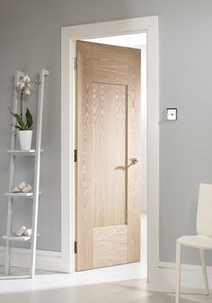 white shaker style internal doors - March 04 2019 at Shaker Interior Doors, Frosted Glass Interior Doors, Oak Interior Doors, Door Design Interior, Shaker Doors, Glass Doors, Interior Rendering, Rustic Doors, Wooden Doors