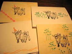 Pygmy Goat Babies Note Cards alloccasion baby by PolkaDotWorld, $6.00