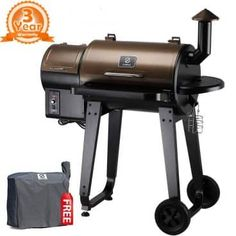 Z Grills 2019 Upgrade Model Wood Pellet Grill & Smoker, 6 in 1 BBQ Grill Auto Temperature Control, 450 sq Inch Deal, Bronze & Black Cover Included Best Smoker Grill, Barbecue Smoker, Bbq Grill, Bbq Meat, Convection Cooking, Cooking Grill, Wood Pellet Grills, Smoke Grill, Cooking Temperatures
