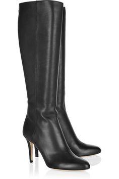0a3b780de11f Jimmy Choo - Grand textured-leather knee boots. High Heel ...