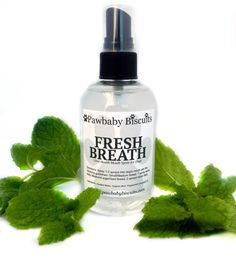 Fresh Breath Oral Spray for Dogs Dog Dental by PawbabyBiscuits