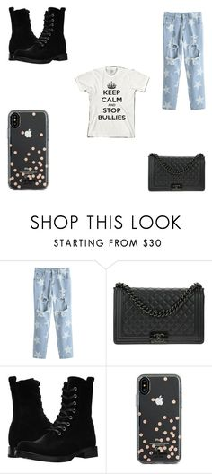 """Stop Bullies!"" by katiephan on Polyvore featuring Chanel, Frye, Kate Spade and anti"