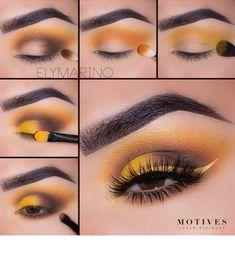 Motives® Pressed Eye Shadow - Heat Wave (Matte) - new_make_up_pintennium Makeup Goals, Makeup Inspo, Makeup Art, Makeup Inspiration, Makeup Ideas, Beauty Makeup, Yellow Makeup, Yellow Eyeshadow, Eyeshadow Makeup