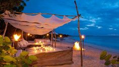 The Sanctuary - Estate : Parrot Cay : Turks and Caicos Villas - Caribbean Villas Glamping, Mykonos Villas, Mykonos Greece, Beach Honeymoon Destinations, Small Pergola, Luxury Villa Rentals, Outdoor Living, Outdoor Decor, Turks And Caicos