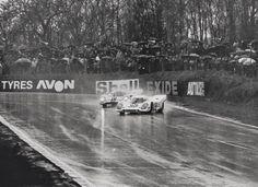 Brands Hatch 1970 1000 kms. Nº11 Elford Hulme Porsche 917 k Porsche Konstruktionen KG. Salzburg Nº 10 Rodriguez Kinnunen Winners Porsche 917 k J. W. Automotive Engineering Ltd