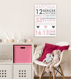 namenskissen kissen geburt geburtstagskissen kissenh lle bedruckt kissen mit name. Black Bedroom Furniture Sets. Home Design Ideas