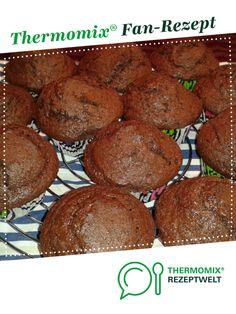 Schokoladen-Muffins von loenly. Ein Thermomix ® Rezept aus der Kategorie Backen süß auf www.rezeptwelt.de, der Thermomix ® Community.