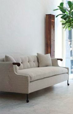 Great lines and fabric on this sofa