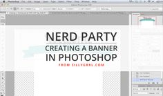 Banners are super popular lately, so I thought I'd make a little tutorial on to create two types of banners - one that wraps around an object and one with ribbon edges. Open a new document and crea...