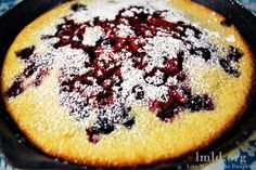 oven baked pancake with berries - Like Mother Like Daughter