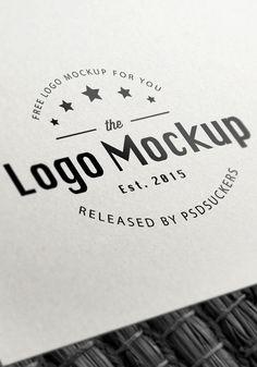 paper logo mockup free