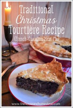 This traditional tourtière recipe makes it easy to bring this classic French-Canadian Christmas meat pie to the dinner table at Christmas or any time of year. Christmas Dishes, Christmas Meat, Christmas Recipes, Baking Recipes, Whole Food Recipes, Pork Recipes, Healthy Recipes, Canadian Christmas, Eggnog Recipe
