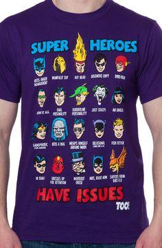 DC Comics Heroes Issues T-Shirt