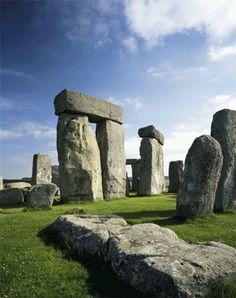 "The largest, inner ""Sarsen"" lintels at Stonehenge"
