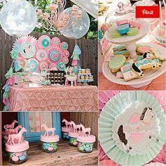 A Pretty Pony Party , can't wait to have kids to start planning parties like these :D