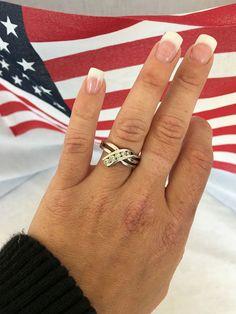 14k white Gold Diamond Anniversary Ring band Kay Jewelers