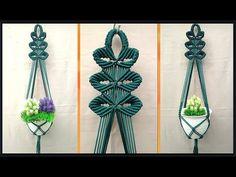 Macrame Plant Hanger Leaf Motif | Tutorial | For Beginner | Cara membuat... Macrame Plant Hanger Patterns, Macrame Plant Hangers, Macrame Patterns, Macrame Wall Hanging Diy, Macrame Plant Holder, Macrame Owl, Macrame Design, Macrame Projects, Decoration