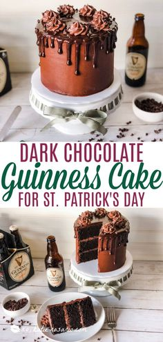 Chocolate Guinness Cake for St. Patrick's Day Creative Cake Decorating, Cake Decorating Videos, Creative Cakes, Frosting Recipes, Cake Recipes, Chocolate Guinness Cake, Chocolate Cake From Scratch, Cake Board, Mini Chocolate Chips