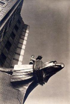 Margaret Bourke-White on the Chrysler Building 1931