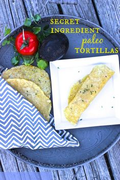 Baked Paleo Tortilla Recipe. This Gluten free tortilla recipe is made with no grains, no nuts and they're vegan too!