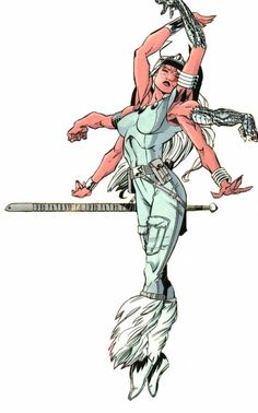 Extreme experimentation turned Rita Wayword into Mojo's loyal servant Spiral, the six-armed sorceress. Comic Book Characters, Marvel Characters, Comic Character, Comic Books Art, Comic Art, Character Design, Marvel Villains, Marvel Comics Art, Marvel Heroes