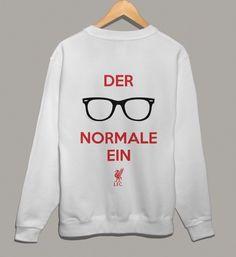 Klopp Der Normale Ein on Men's official Liverpool FC Sweatshirt.