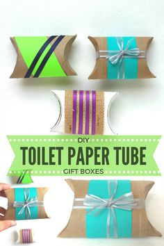 DIY Toilet Paper Roll Boxes   Make Your Own Favor or Gift Boxes Using Toilet…
