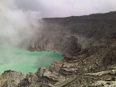 Hike up to Ijen Crater! This quiet active volcano is recommended for hiking and climbing enthusiasts.  photo credit: (tripadvisor.com)