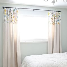 Learn how to make drop cloth curtains without the pain of sewing. These DIY curtains will give you a custom look without the price!