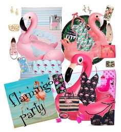 Flamingo party by traceyenorton on Polyvore featuring polyvore fashion style Moschino Joe Browns Boohoo Topshop RED Valentino Draper James Lilly Pulitzer Robert Rose WithChic Nach Bijoux Marc Jacobs Casetify Nordstrom Rack LaMont Big Mouth Sunnylife clothing