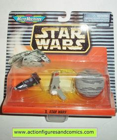 star wars micro machines X 10 collection DEATH STAR T-16 SKYHOPPER LARS LANDSPEEDER galoob hasbro toys moc mip mib
