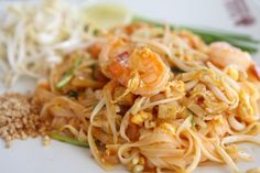 Thai Recipe: Traditional Pad Thai Pad Thai has often been called the signature dish of Thai cuisine. For those who haven't tried it yet, it's a rice noodle dish with a salty, sweet, sour, and slightly. Thai Recipes, Seafood Recipes, Asian Recipes, Cooking Recipes, Healthy Recipes, Asian Foods, Pasta Dishes, Food Dishes, Main Dishes