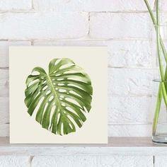 quadro decorativo split leaf