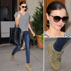 ... striped tee and skinny jeans with high-top sneakers, then finish off with her exact shades or try these retro snake American Apparel sunglasses ($20) ...