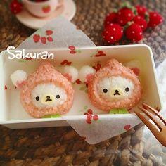 strawberry kolirakkuma onigiri