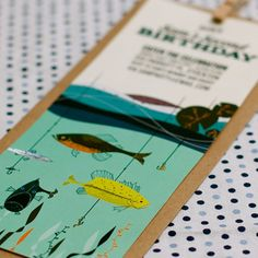 Vintage Fishing Invitation Birthday Party by SpaceshipsLaserBeams, $12.00