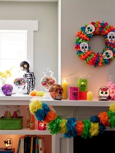 Celebrating Dia De Los Muertos this year? Add these unique decorations to your holiday collection. #lowes
