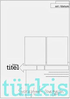 türkis scrapbook magazin: Sonntagssketch #51 A4 Sketch mit Wiebke