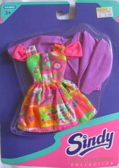 MOC NRFB 1994 Hasbro Sindy Skyline Collection outfit dress and jacket