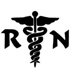 rn  Silhouette | Nurse RN Medical Decal Sticker 6 Inch