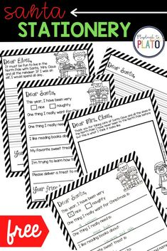 Use these Santa stationary writing prompts today! These include multiple options which are perfect for differentiating for all students. This activity is great for Pre K, kindergarten and first grade. Students will be engaged and wanting to write more! These work great for a homeschool activity as well! #Christmasactivity #writingprompts #letterstosanta Kindergarten Writing Activities, Kindergarten Centers, Learning Centers, Teaching Ideas, Writing Skills, Writing Prompts, Playdough To Plato, First Grade Lessons