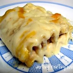 Chicken Alfredo Lasagna Roll-Ups