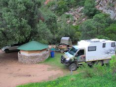 Campsites in Baviaanskloof. Camping in the Eastern Cape. Campsites with beautiful mountain views. Mountain View, Campsite, Recreational Vehicles, South Africa, 4x4, Camping, Camper Van, Campers, Single Wide