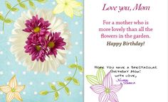 Heres A Birthday Card I Just Created For My Mother Mothers Day Is Coming Soon Create Something Her That She Will Cherish Cards From 93 Ask Me How