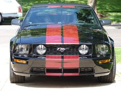 Red and black Mustang...yes please.