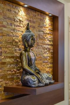 Nagesh and Anusha's Concorde Amber Home Interiors - Bonito Designs Living Room Partition Design, Living Room Tv Unit Designs, Pooja Room Door Design, Room Partition Designs, Ceiling Design Living Room, Home Room Design, Buddha Statue Home, Buddha Home Decor, Feng Shui