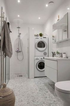 laundry room and bathroom combo designs best laundry bathroom combo ideas on strikingly small laundry room bathroom combination designs. Toilet In Sho… – Laundry Room Laundry Room Remodel, Basement Laundry, Laundry Room Storage, Basement Bathroom, Bathroom Storage, Bathroom Organization, Remodel Bathroom, Bathroom Cabinets, Basement Apartment