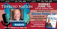 Listen to Dr. Steven Hotze talking all things thyroid, here:  http://thyroidnation.com/archived-radio-shows/